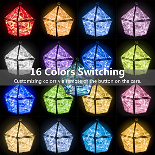 66ft Led Rope Lights Outdoor String Lights with 200 LEDs,16 Colors Changing Waterproof Starry Fairy Lights Plug in for Bedroom,Indoor,Patio,Home Decor by Omika (Image #2)
