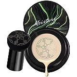 Faruxue Base de cabeça de cogumelo, almofada de ar de abacate BB Cream, base de maquiagem nude duradoura duração o dia todo c