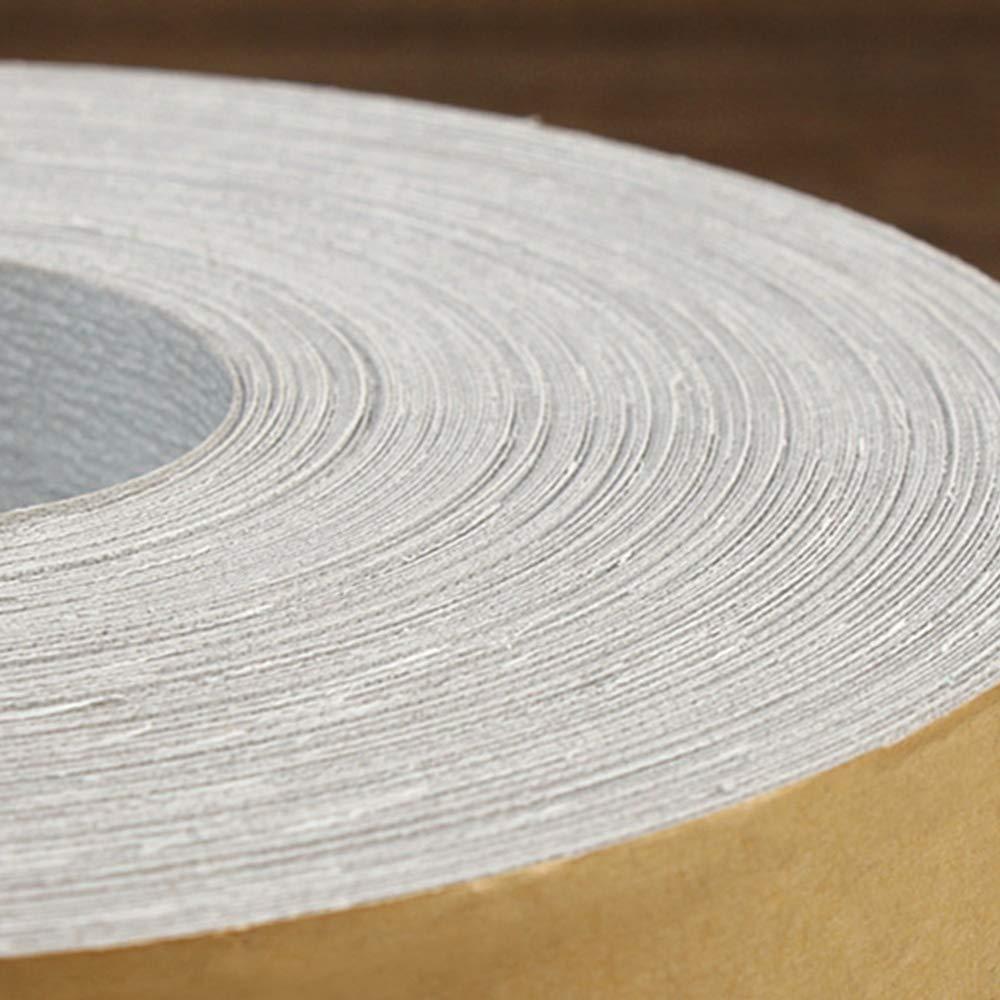 Neue zerkleinerte Abrasivkleidung Roll 320# Sandpaper White Sanding Tool Gravel Close Wear Resistant Waterproof und Oil Proof Soft Texture Grinding Polishing 1M