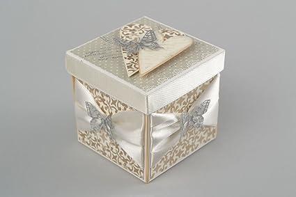 Caja de regalo para bodas hecha a mano envoltura original empaque creativo