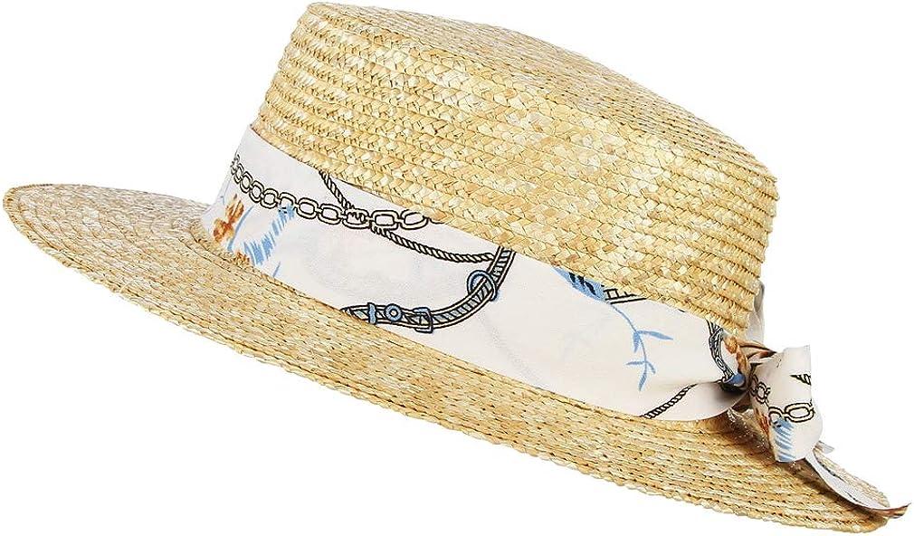GEMVIE Chapeau de Paille Enfant Canotier Unisexe Chapeau de Soleil Fille /ét/é Chapeau de Pork Pie en Paille Gar/çon Anti-UV Solaire Plage Voyage