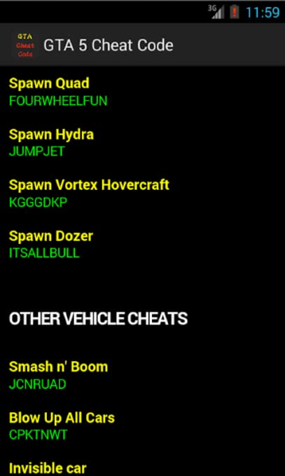 gta 5 xbox one cell phone cheat codes