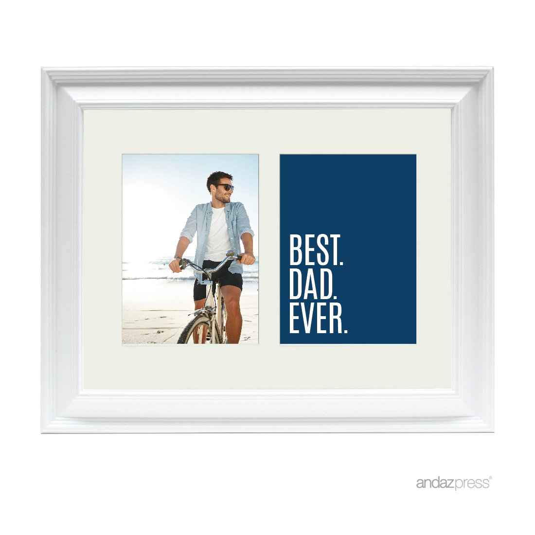 Andaz Press Double White 5x7-inch Photo Frame, Best