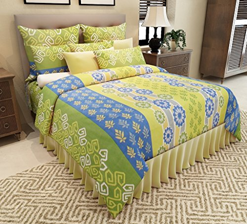 Home Candy Floral Premium Cotton Double Bedsheet with 2 Pillow Covers – Multicolor.