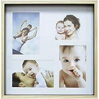 Painel Color Wood Para 4 Fotos 10X15cm Kapos Natural/Preto