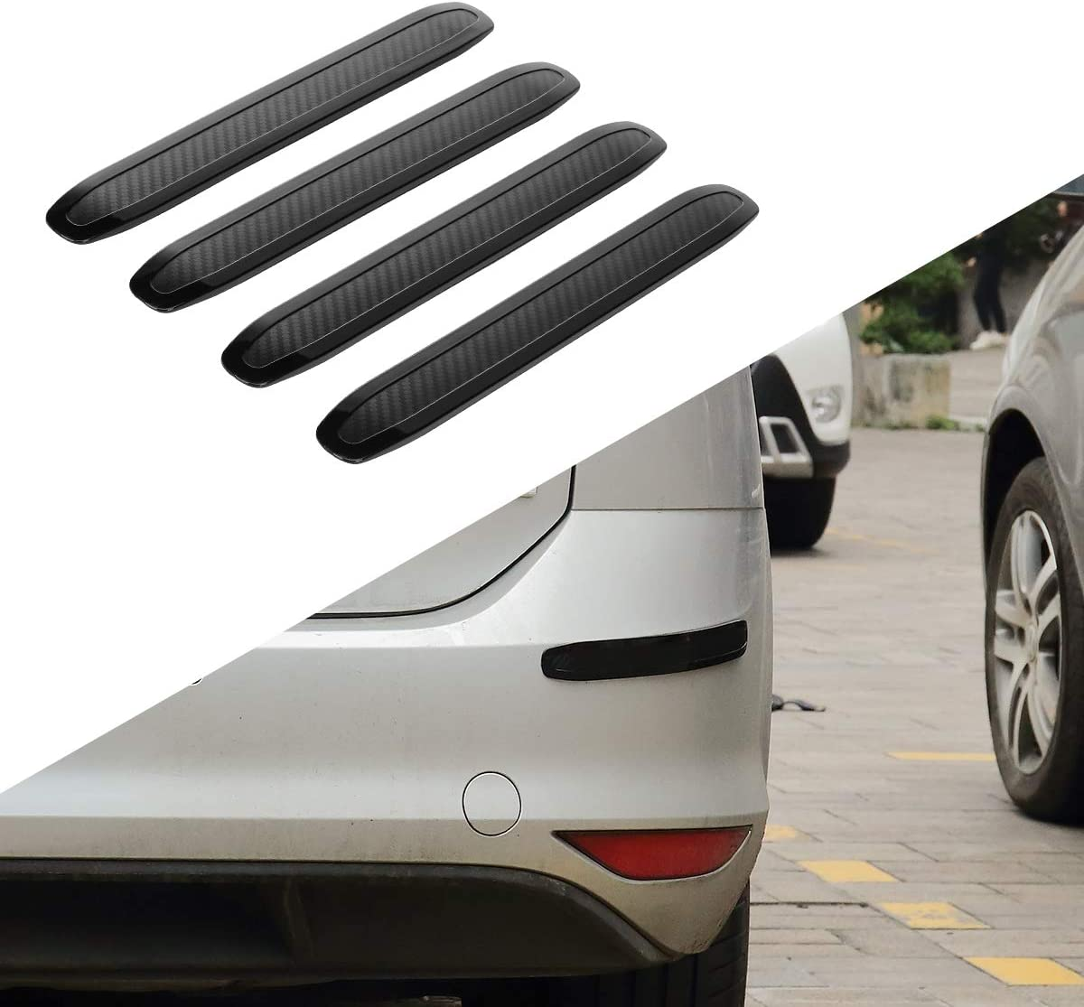 runmade Universal Black Car Bumper Protector Guard Patch Front /& Rear Bumper Guard Strip Trim for Cars SUV Pickup Truck 2 Pack