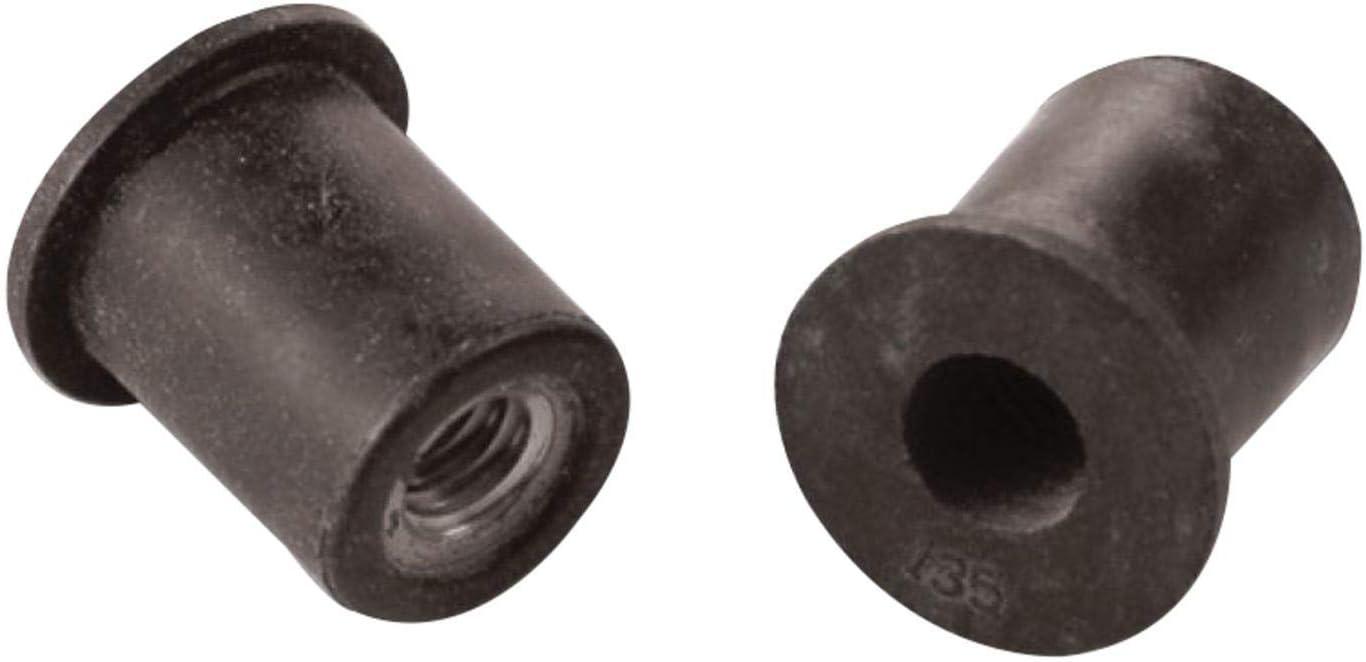 Marson MNN Series M32730 RND Body Wellnut Insert; #10-32, LG FLNG HD 50//Pack Neoprene Brass 0.015-0.192 Inch GR