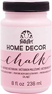 FolkArt 34927 Home Decor Chalk Furniture & Craft Paint in Assorted Colors, 8 ounce, Vintage Victorian