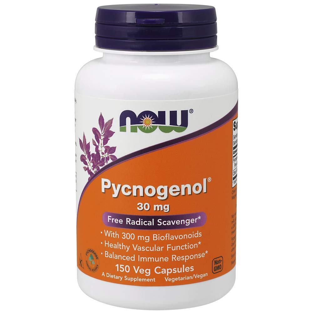 Now Supplements, Pycnogenol 30 mg (a Unique Combination of Proanthocyanidins from French Maritime Pine) with 300 mg Bioflavonoids, 150 Veg Capsules by NOW Foods