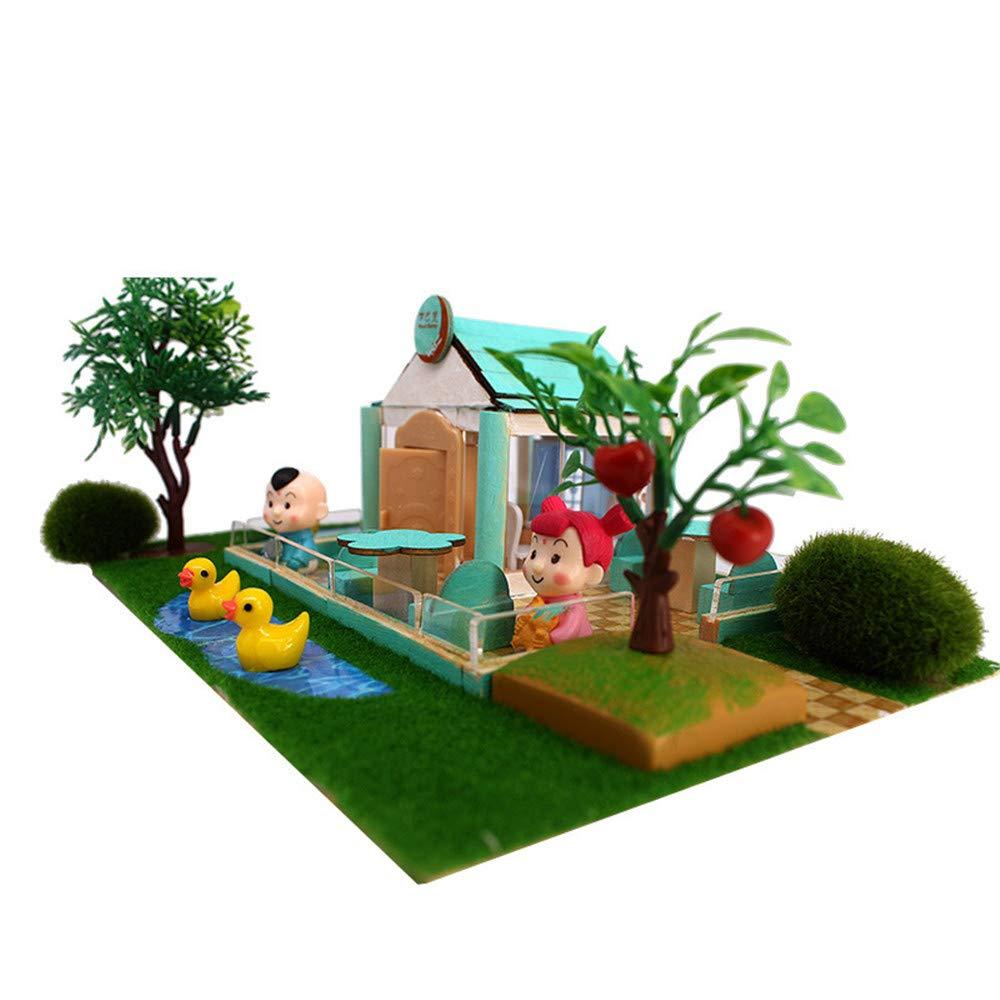 Casa in miniatura di DIY Hand Hold Blocks Giocattoli educativi fai-da-te per bambini di modellini di piccole dimensioni per inviare regali creativi originali per ragazze e ragazzi Casa delle bambole