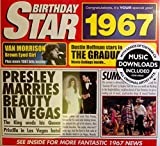 1967 Birthday Gift - 1967 Chart Hits CD and 1967 Birthday Card