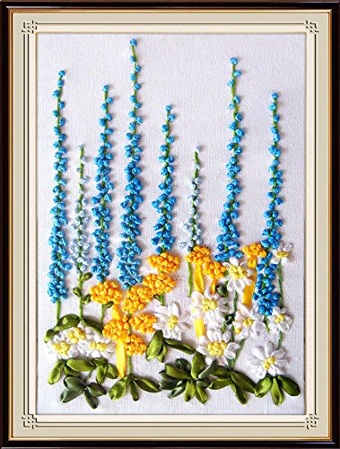 Wandafull Ribbon embroidery Kit Handmade Flowers(No frame)