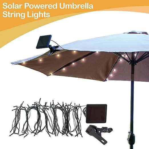 Umbrella Solar String Lights - Cool White