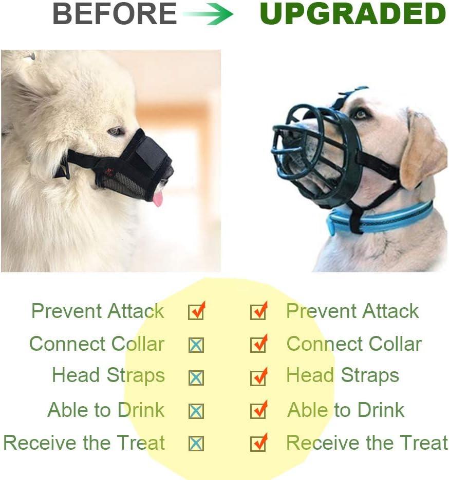 Bellen und Kauen Supet Hunde Maulk/örbe Hund Muzzle aus einem Weichen Silikon Haustier Hunde Maulkorb f/ür Kleine,Mittlere und Gro/ße Hund Verhindert Bei/ßen