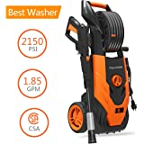 PAXCESS Electric Pressure Washer, 2150 PSI 1.85 GPM Power Washer with Spray Gun, Adjustable Nozzle,26ft High Pressure Hose, Hose Reel, for Car/Vehicle/Floor/Wall/Furniture/Outdoor (CSA Approved)