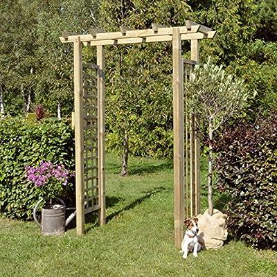 Pergola Rose arco recto (BxH) 160 x 210 cm de Gartenpirat®: Amazon.es: Jardín