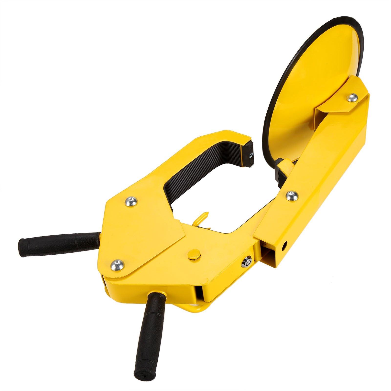 Hindom Hindom Wheel Lock Clamp Boot Safety Heavy Duty Tire Claw Auto Car Anti Theft Lock (Yellow US Stock)