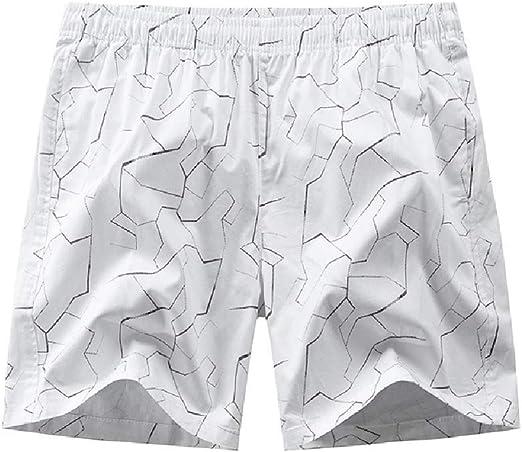 cheelot 男性薄いミッドライズ伸縮性ファブリックポケットカラーブロックストレートスウェットショートパンツ