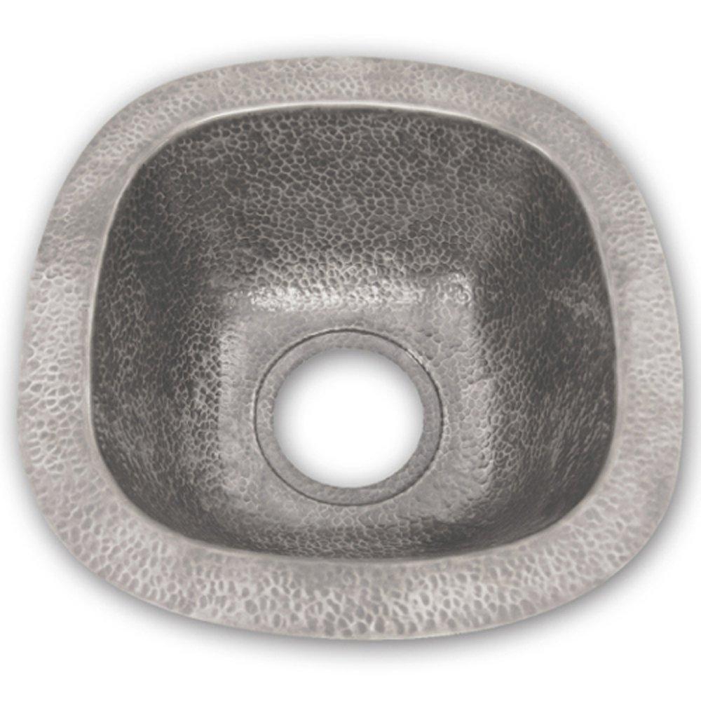 Houzer HW-LAG2BF Hammerwerks Series Undermount Copper Single Bowl Bar/Prep Sink, Pewter