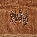 HiEnd Accents 3-Horse Embroidered Western Towel