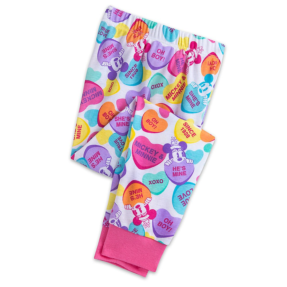 Disney Mickey and Minnie Mouse Sweethearts PJ PALS Pajamas for Girls