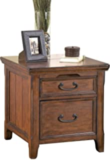 Ashley Furniture Signature Design   Woodboro Media End Table   2 Drawers  And Top Drop Door