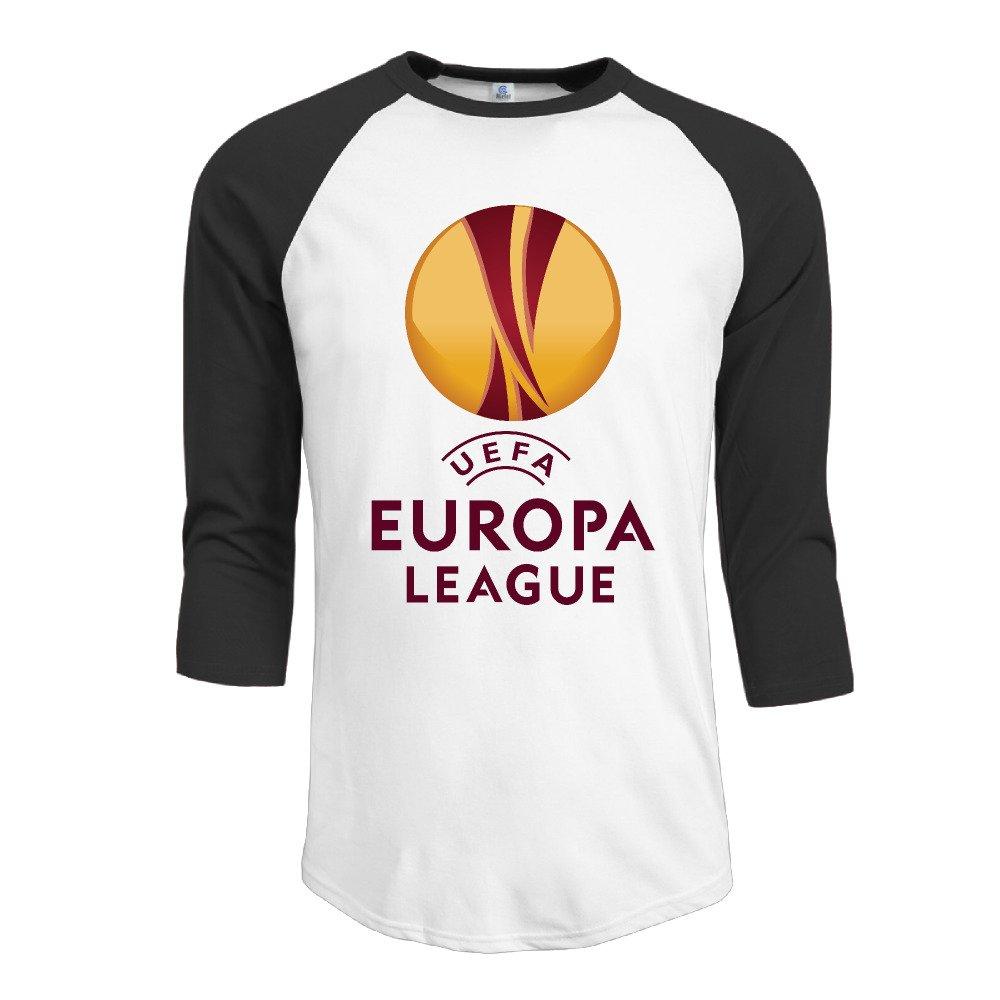 Amazon com: Men Europa Soccer League Team Logo 3/4 Sleeve T