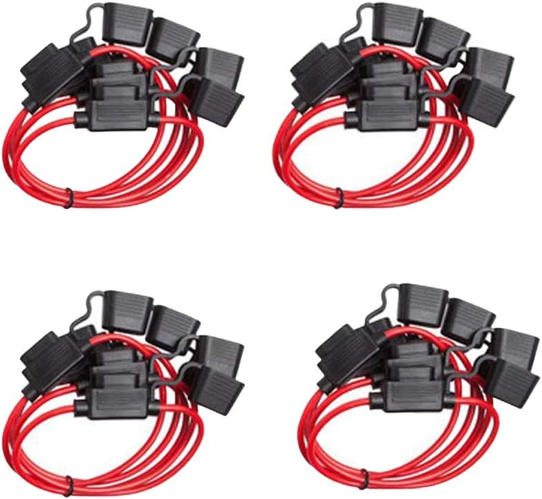 Benliu Inline Fuse Holder 12AWG Wiring Harness ATC//ATO 40AMP Blade Automotive Fuse Holder 10 Pack