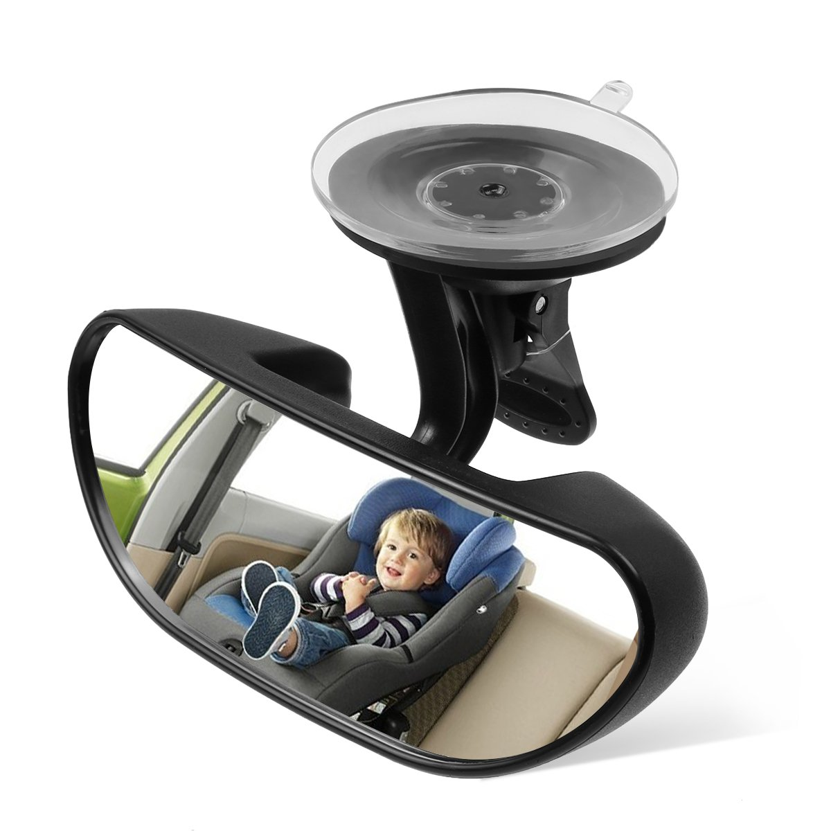 Ideapro Baby Car Backseat Mirror, Rear View Facing Back Seat Mirror Child Safety Rearview Adjustable Forward Baby Mirror for Infant(5.78'' 2.16'') by ideapro