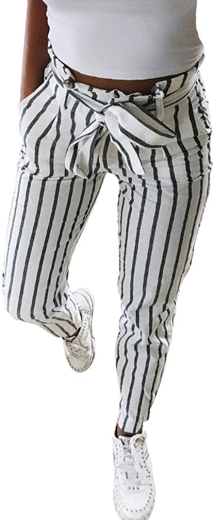 Pantalones Mujer Lanskirt Mujer Pantalon de Arco de Moda de Dulce ...