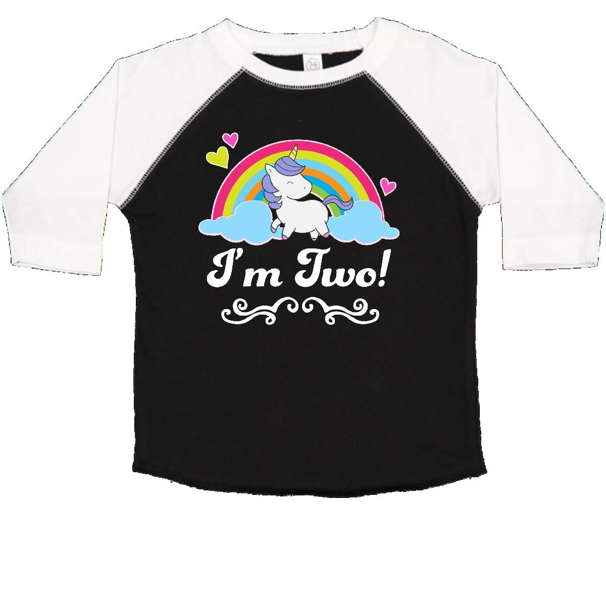 inktastic 2 Year Old Birthday Unicorn Girls Toddler T-Shirt