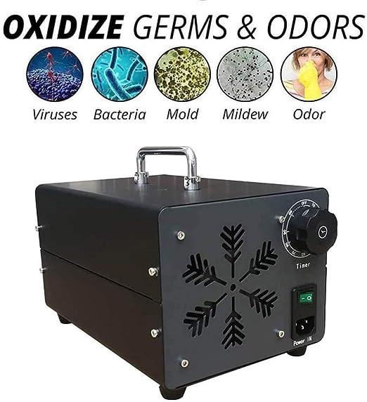 WSFF Generador de ozono, 20000Mg / H portátil de ozono O3 máquina ...