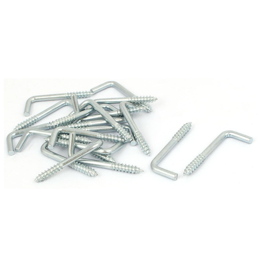 Home Wall M4x38mm L Shaped Self Tapping Metal Screw Hook Picture Hanger 100PCS