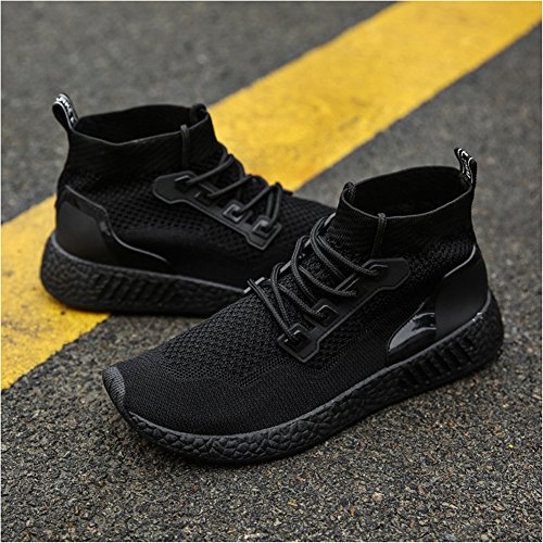 Leader Show Mens Athletic Light Fashion Sneakers Casual Breathable Street Walking Shoes Black LyUCP