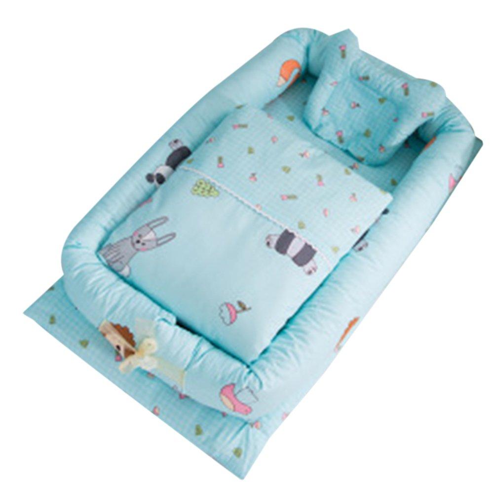 0 /– 24 meses Cuna de beb/é con edred/ón desmontable cama de beb/é aislada reci/én nacido beb/é dormir artificial plegable Bionic cama con un edred/ón Cloud Talla:talla /única