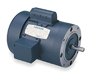 Leeson 110058.00 General Purpose C Face Motor, 1 Phase, 56 C Frame, Round Mounting, 1HP, 1800 RPM, 115/208-230V Voltage, 60Hz Fequency