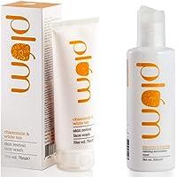 Plum Skin Revival Face Wash, Chamomile and White Tea, 75ml and Plum Calming Antioxidant Toner, Chamomile and White Tea, 200ml