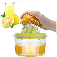 IZSUZEE Handmatige Juicer Lemon Squeezers 14,5 x 7,5cm, Multifunctionele Oranje Citrus Lime Juicer, Hand Fruit Press met…