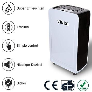 vingo 12L Deshumidificador Compacto y Portátil Purificador de Aire Dehumidifier Bajo Consumo Silencioso función secado: Amazon.es: Hogar