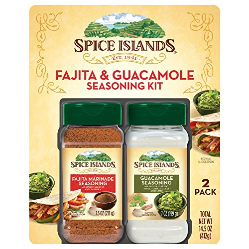 Island Marinade - Spice Islands Fajita & Guacamole Seasoning Kit - 2 Pack