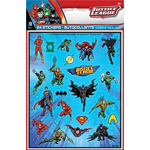 Justice League Sticker Sheets 4ct product image