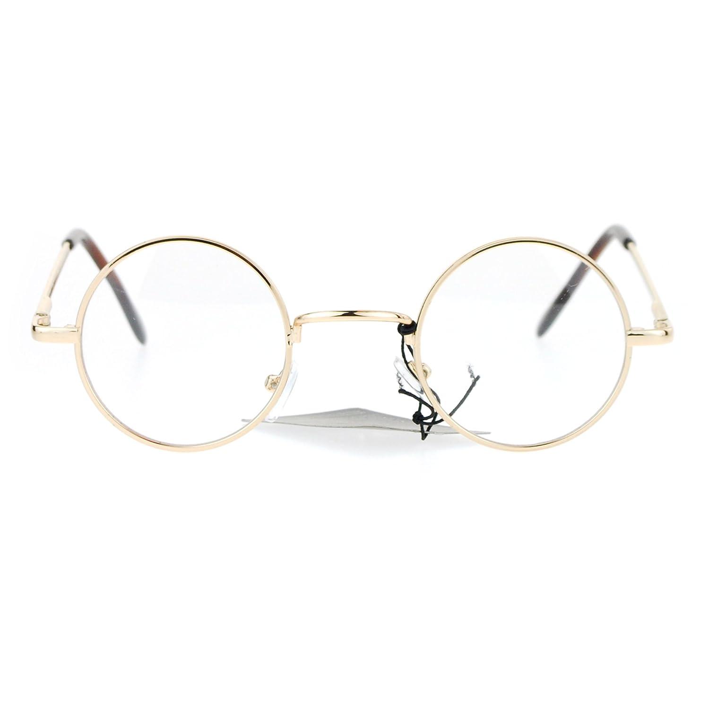 e357dc0aae Amazon.com  Snug Small Retro Vintage Hippie Round Circle Lens Eye Glasses  Black  Clothing