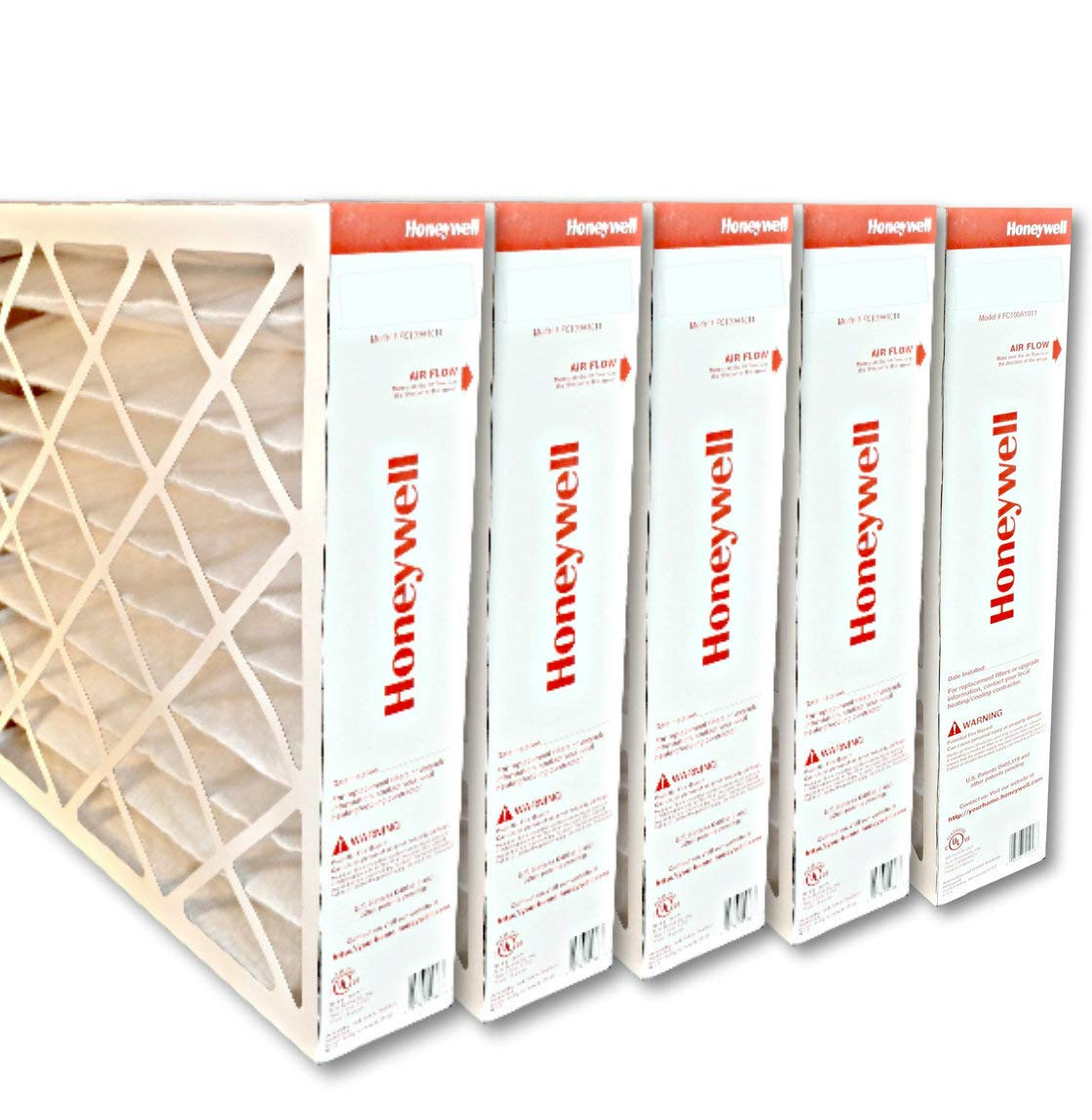 Honeywell FC100A1037 20''x25''x4'' Merv 11 Filter Media,(Packaging may vary) Pack of 5