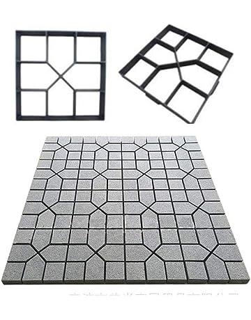 Acc Molde de plástico para pavimento, Molde de Cemento para Piso de plástico, Black
