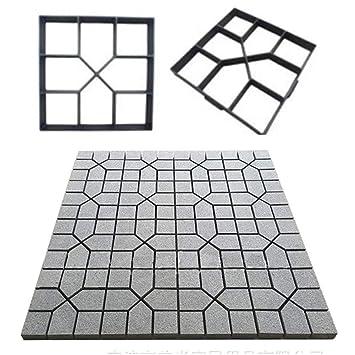 Acc Molde de plástico para pavimento, Molde de Cemento para Piso de plástico, Black, 40×40 cm: Amazon.es: Hogar