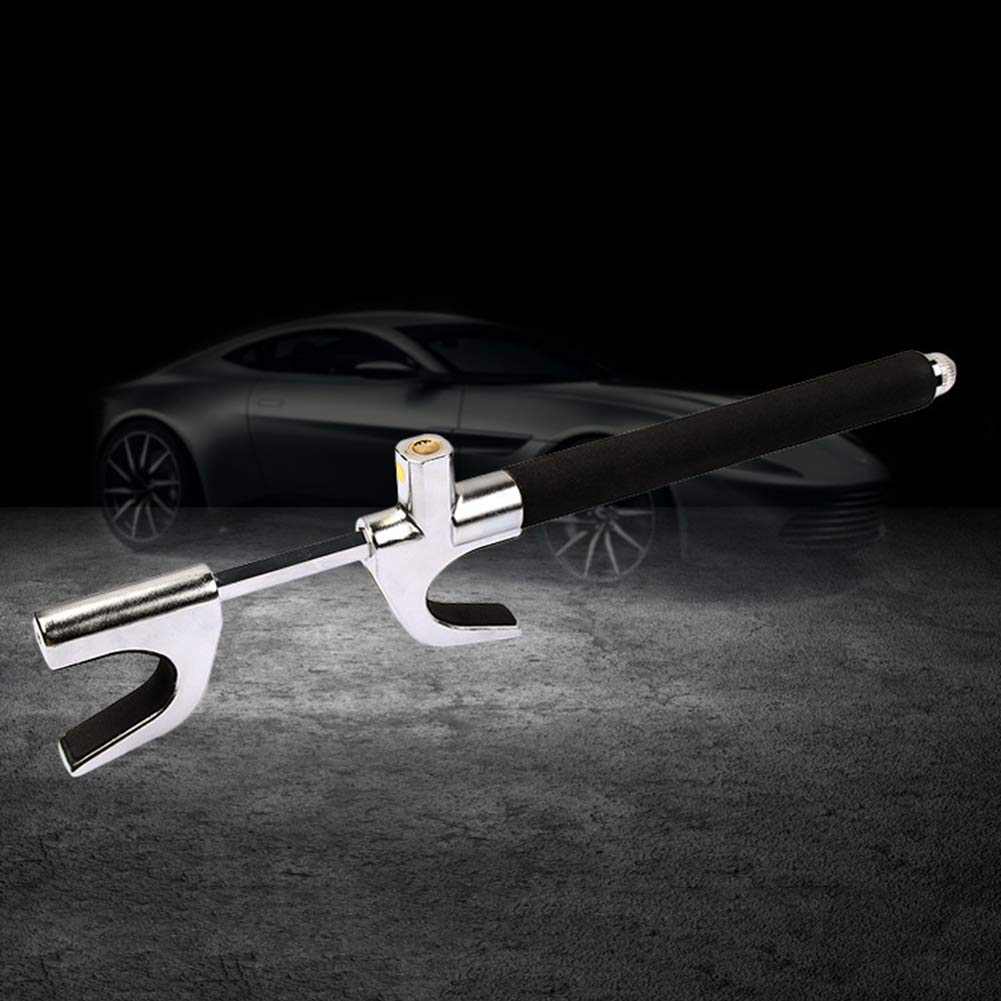 mAjglgE Universalfahrzeug-Auto-justierbare Diebstahlsicherungs-Klammer-Lenksicherheitsrad-Verriegelung 1pc