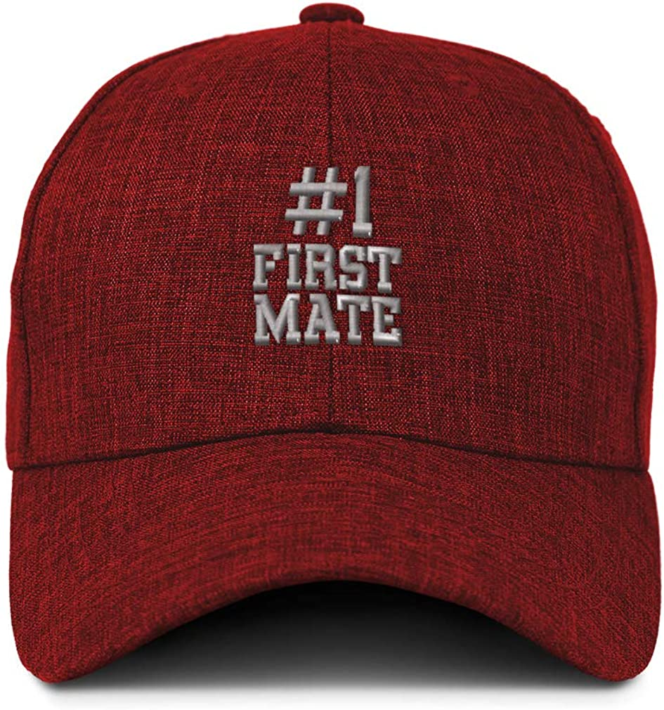 Custom Baseball Cap Number #1 First Mate Embroidery Casual Hats for Men /& Women