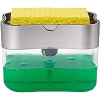 Dispensador de jabón de Cocina Incluye Esponja Capacidad de 385 ml Soap Dispenser