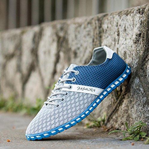 la Deporte de de Estilo Malla Transpirables Planos Landfox Cómodas Beige Manera de Zapatillas la del Nuevos Ocasionales Hombres Zapatos E1wq68nSzq