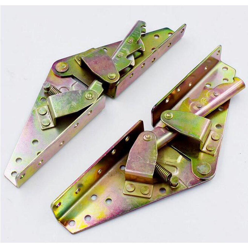 Homyl Set Di 2 Bronzo Contenitore Letto Sollevare Cerniera Meccanismo Home FAI DA TE Progetto